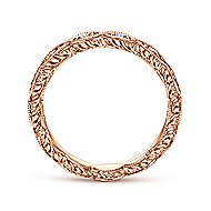 14k Rose Gold Victorian Midi Ladies Ring