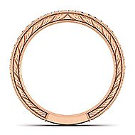 14k Rose Gold Victorian Straight Wedding Band