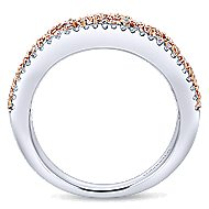14k White And Rose Gold Care Collection Fashion Ladies' Ring angle 2