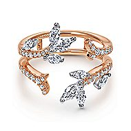 14k White And Rose Gold Contemporary Enhancer Anniversary Band angle 1