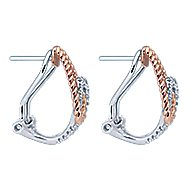 14k White And Rose Gold Hampton Fashion Earrings angle 2