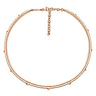 14k White And Rose Gold Kaslique Choker Necklace angle 2