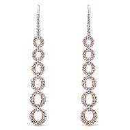 14k White And Rose Gold Lusso Drop Earrings angle 1
