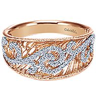 14k White And Rose Gold Nature Fashion Ladies' Ring angle 1