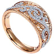14k White And Rose Gold Nature Fashion Ladies' Ring angle 3