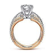 14k White And Rose Gold Round Split Shank Engagement Ring