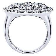 14k White Gold Allure Fashion Ladies' Ring angle 2