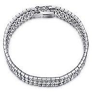 14k White Gold Allure Tennis Bracelet angle 1