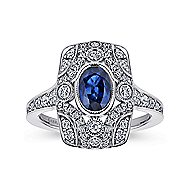 14k White Gold Art Moderne Classic Ladies' Ring angle 4