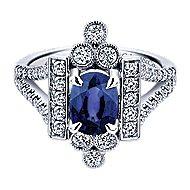 14k White Gold Art Moderne Fashion Ladies' Ring angle 1