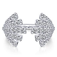14k White Gold Art Moderne Fashion Ladies Ring
