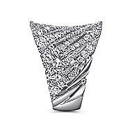 14k White Gold Art Moderne Fashion Ladies' Ring