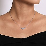 14k White Gold Art Moderne Fashion Necklace angle 3