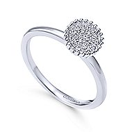 14k White Gold Bujukan Fashion Ladies' Ring angle 3