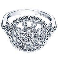 14k White Gold Bujukan Fashion Ladies' Ring angle 1