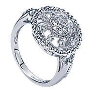 14k White Gold Bujukan Fashion Ladies' Ring angle 3