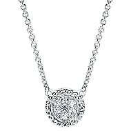 14k White Gold Bujukan Fashion Necklace