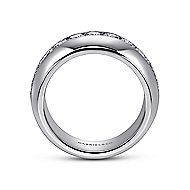 14k White Gold Channel Set Round 11 Stone Diamond Anniversary Band angle 2