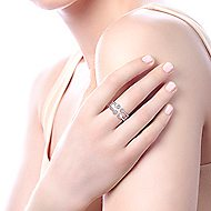 14k White Gold Constellations Fashion Ladies' Ring angle 5