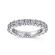 14k White Gold Contemporary Eternity Band Anniversary Band