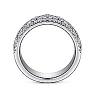 14k White Gold Contemporary Fancy Anniversary Band angle 2