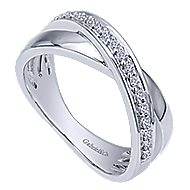 14k White Gold Contemporary Fashion Ladies' Ring angle 3