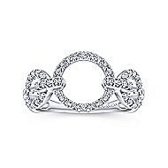 14k White Gold Contemporary Fashion Ladies' Ring angle 4
