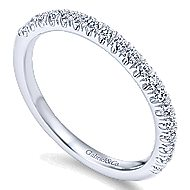 14k White Gold Contemporary Straight Wedding Band angle 3