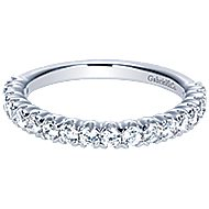 14k White Gold Contemporary Straight Wedding Band