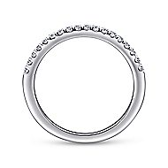 14k White Gold Contemporary Straight Wedding Band angle 2