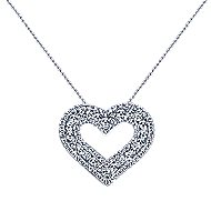 14k White Gold Eternal Love Heart Necklace angle 1