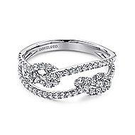 14k White Gold Eternal Love Twisted Ladies Ring