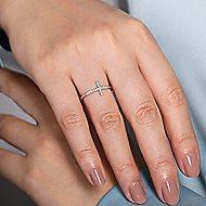 14k White Gold Faith Cross Ladies' Ring