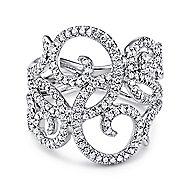 14k White Gold Flirtation Fashion Ladies' Ring angle 1