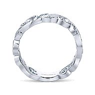 14k White Gold Floral Midi Ladies' Ring angle 2