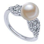 14k White Gold Grace Classic Ladies' Ring