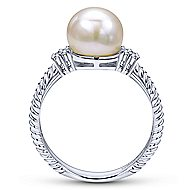 14k White Gold Grace Classic Ladies' Ring