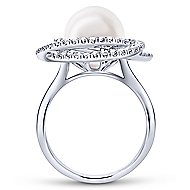 14k White Gold Grace Fashion Ladies' Ring angle 2