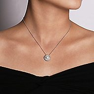 14k White Gold Grace Fashion Necklace