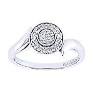 14k White Gold Halo Engagement Ring angle 5