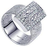 14k White Gold Hampton Classic Ladies' Ring