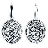 14k White Gold Hampton Drop Earrings angle 1