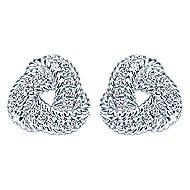 14k White Gold Hampton Stud Earrings