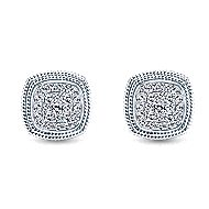 14k White Gold Hampton Stud Earrings angle 1
