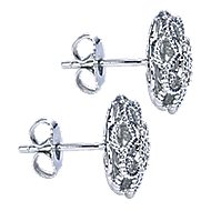 14k White Gold Hampton Stud Earrings angle 3