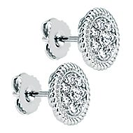 14k White Gold Hampton Stud Earrings