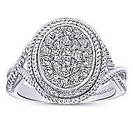 14k White Gold Hampton Twisted Ladies' Ring angle 4