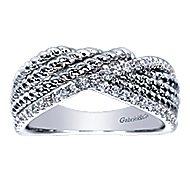 14k White Gold Hampton Twisted Ladies' Ring