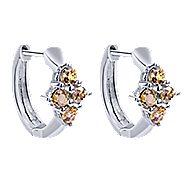 14k White Gold Huggies Huggie Earrings angle 1