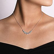 14k White Gold Indulgence Bar Necklace angle 3
